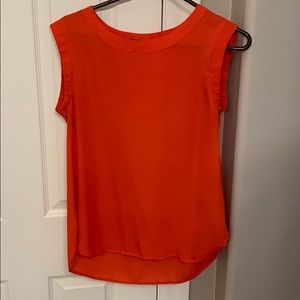 Sleeveless bright red tunic top!